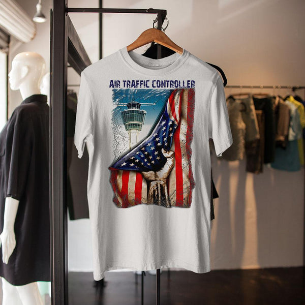 Air Traffic Controller American Flag Shirt