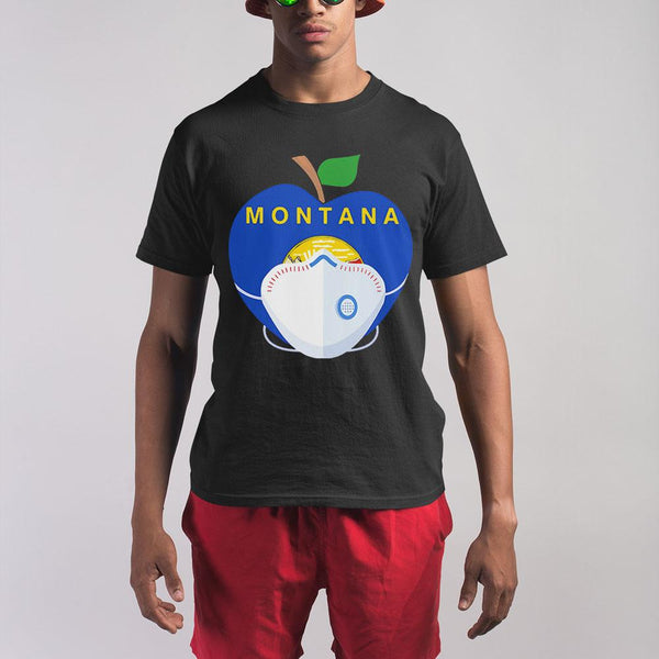 Apple Montana State Covid-19 Shirt S By AllezyShirt