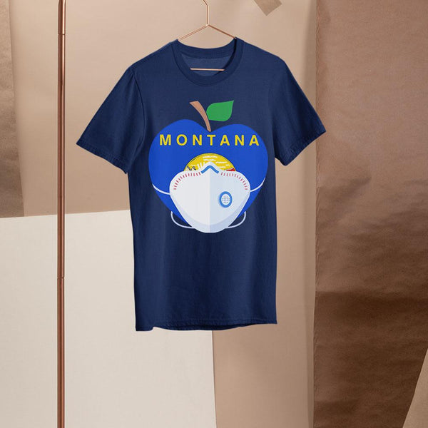 Apple Montana State Covid-19 Shirt M By AllezyShirt