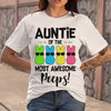 Auntie Of The Most Awesome Peeps Bunny T-shirt S By AllezyShirt