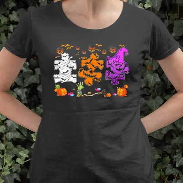 Autism Pieces Halloween Costume T-shirt M By AllezyShirt