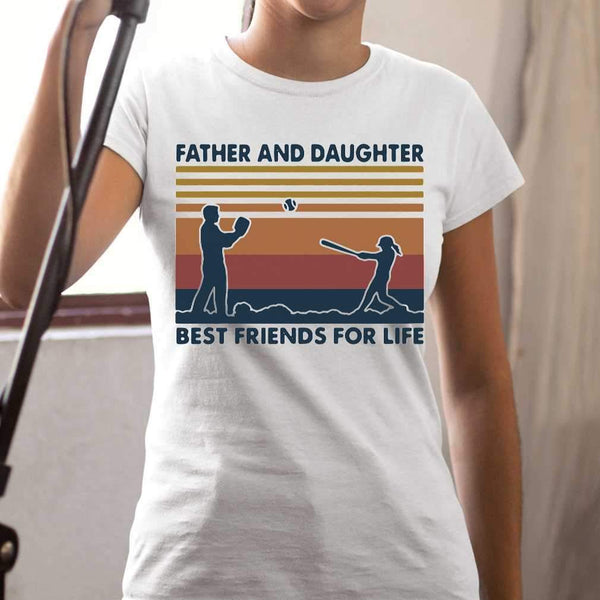 Baseball Father And Daughter Best Friends For Life Vintage T-shirt M By AllezyShirt