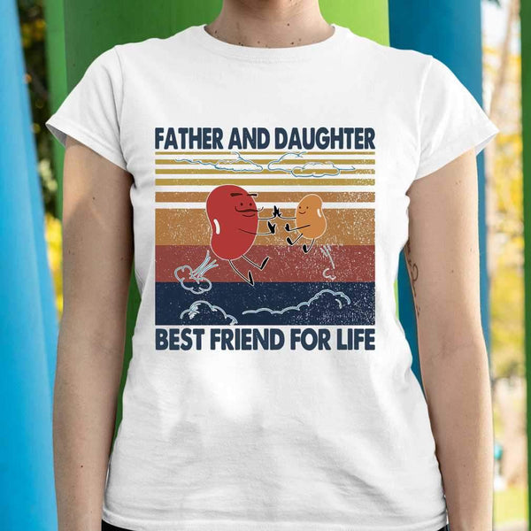 Bean Seed Father And Daughter Best Friend For Life Vintage T-shirt M By AllezyShirt