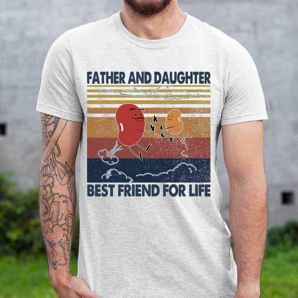 Bean Seed Father And Daughter Best Friend For Life Vintage T-shirt S By AllezyShirt