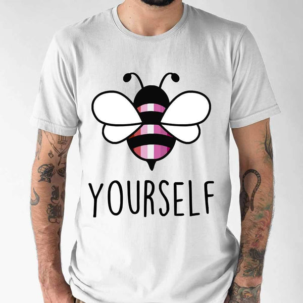 Bee YourSelf Lesbian Bee Gay Pride LGBT Rainbow T-shirt M By AllezyShirt