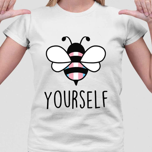 Bee YourSelf Transgender Bee Gay Pride LGBT Rainbow T-shirt M By AllezyShirt
