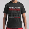 Best April Girl Facts Shirt M By AllezyShirt