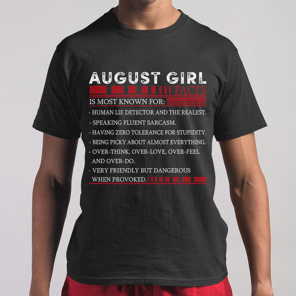 Best August Girl Facts Shirt M By AllezyShirt