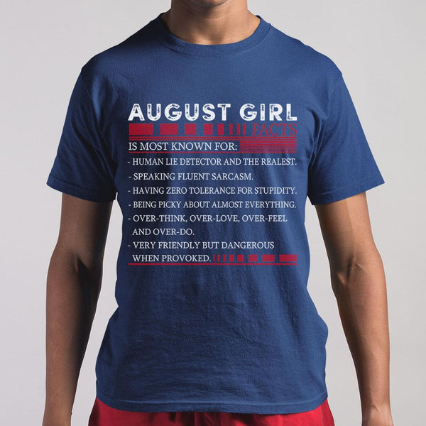 Best August Girl Facts Shirt S By AllezyShirt