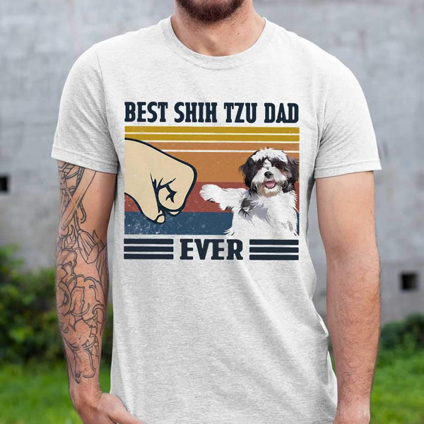 Best Shih Tzu Dad Ever Vintage T-shirt S By AllezyShirt