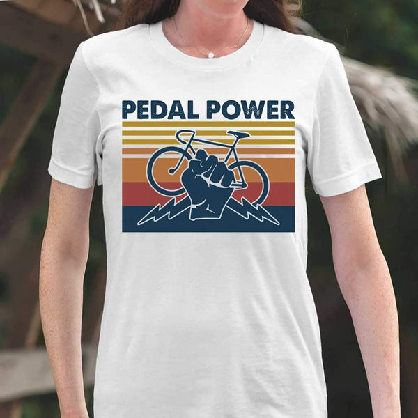 Bicycle Pedal Power Vintage Retro T-shirt M By AllezyShirt