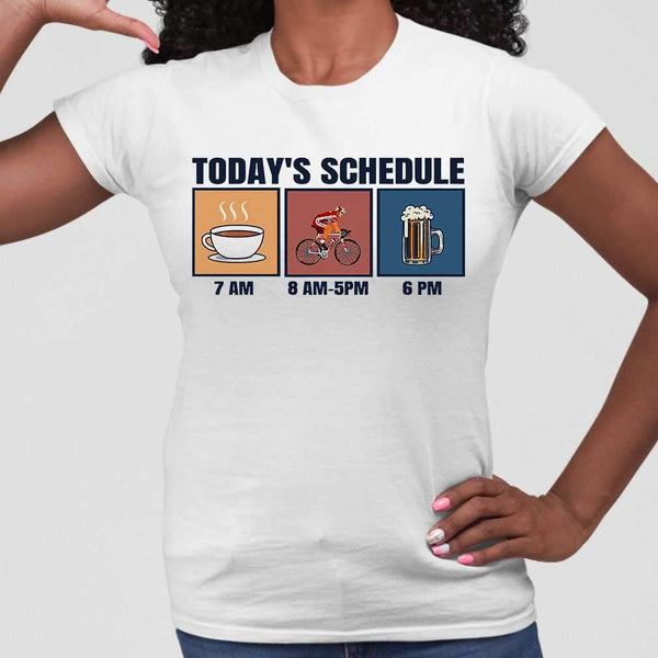 Bicycle Today's Schedule Coffee Cycling Beer T-shirt M By AllezyShirt