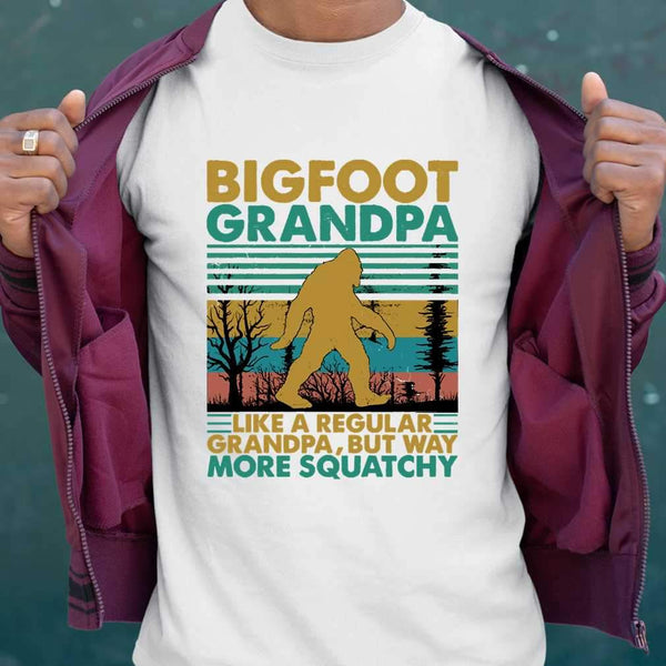 Bigfoot Grandpa Like A Regular Grandpa More Squatchy Vintage T-shirt S By AllezyShirt
