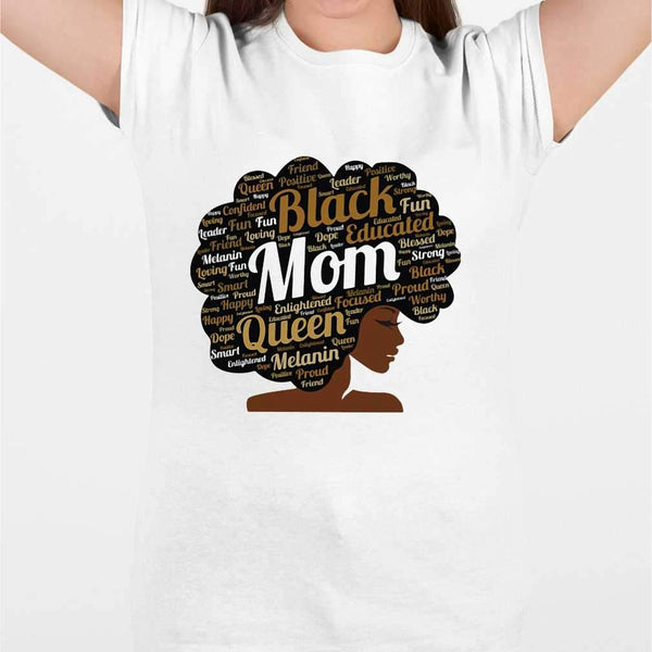 Black Educated Mom Queen Melanin Proud Juneteenth T-shirt M By AllezyShirt
