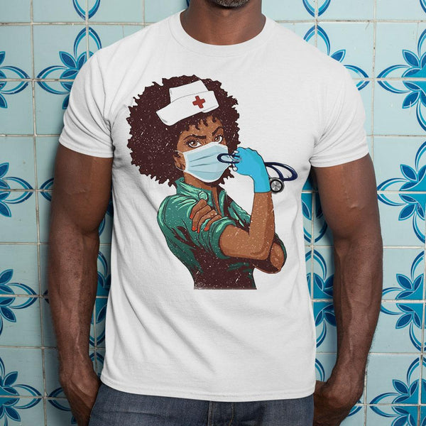 Black Nurse Strong Women Shirt S By AllezyShirt