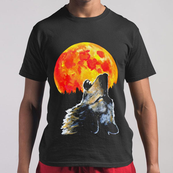 Blood Moon Wolf Shirt M By AllezyShirt