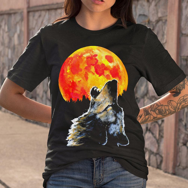 Blood Moon Wolf Shirt S By AllezyShirt