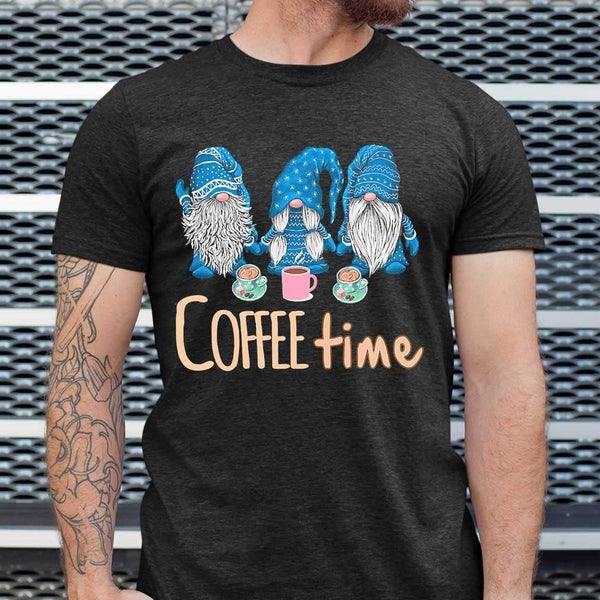 Blue Gnomies Coffee Time T-shirt S By AllezyShirt