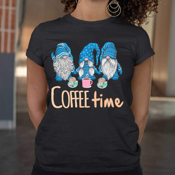 Blue Gnomies Coffee Time T-shirt M By AllezyShirt