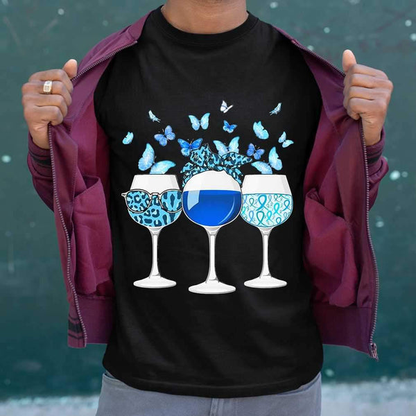 Blue Wine Butterfly T-shirt S By AllezyShirt