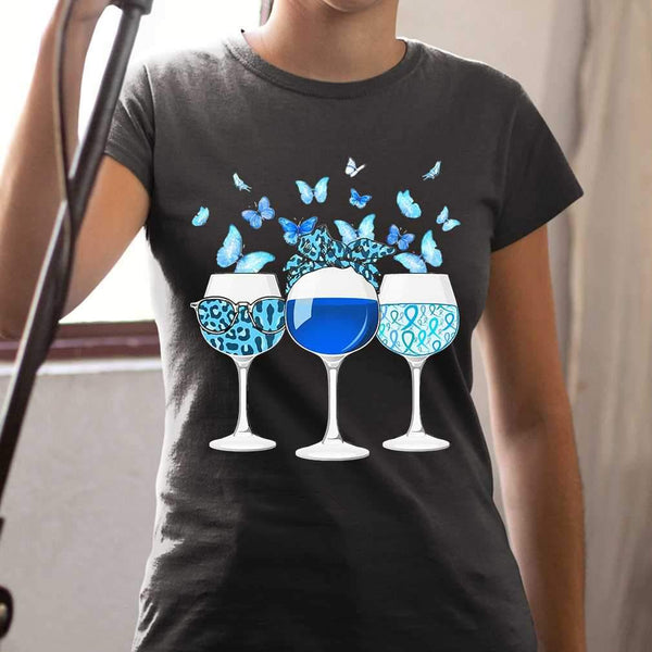 Blue Wine Butterfly T-shirt M By AllezyShirt