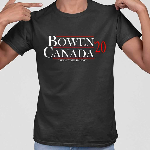 Bowen Canada 2020 Wash Your Hands T-shirt S By AllezyShirt