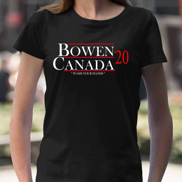Bowen Canada 2020 Wash Your Hands T-shirt M By AllezyShirt