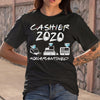 Cashier 2020 Face Mask #quarantined T-shirt S By AllezyShirt