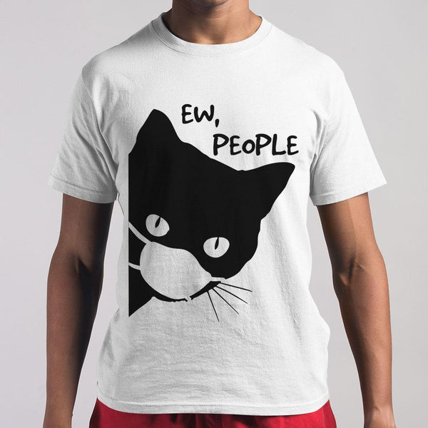 Cat Face Mask Ew People T-shirt M By AllezyShirt