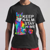 Cat Keep Kalm Stay Home T-Shirt M By AllezyShirt