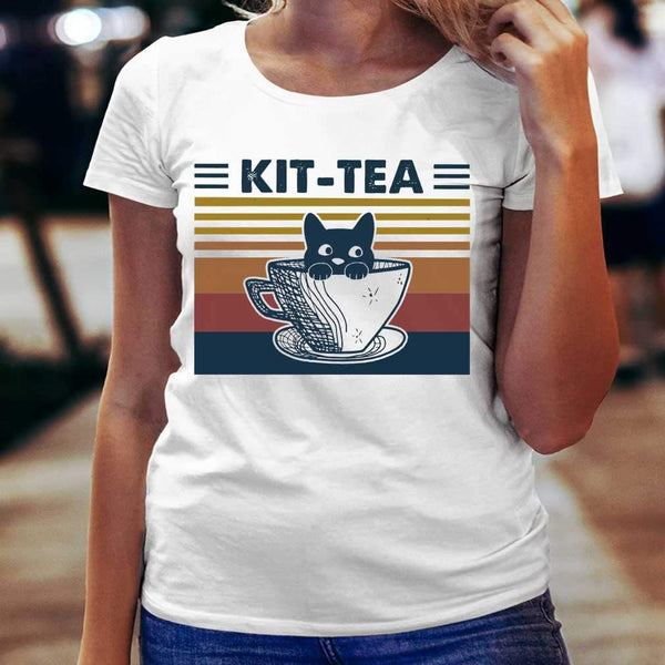Cat Kit Tea Vintage T-shirt S By AllezyShirt
