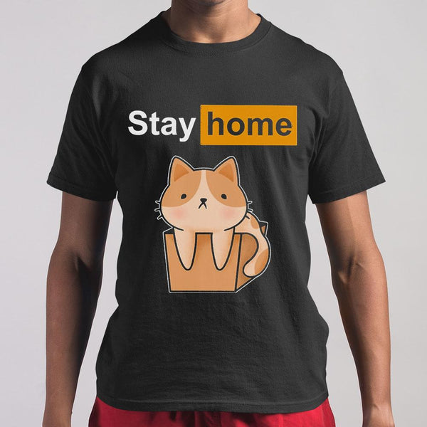 Cat Stay Home T-shirt M By AllezyShirt