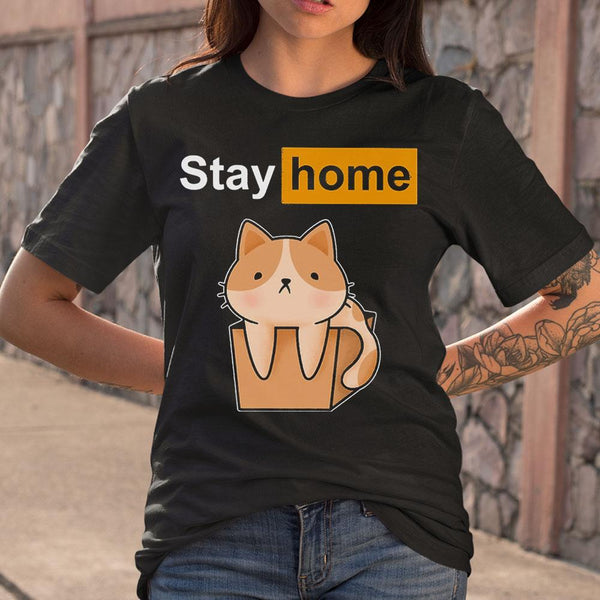 Cat Stay Home T-shirt S By AllezyShirt