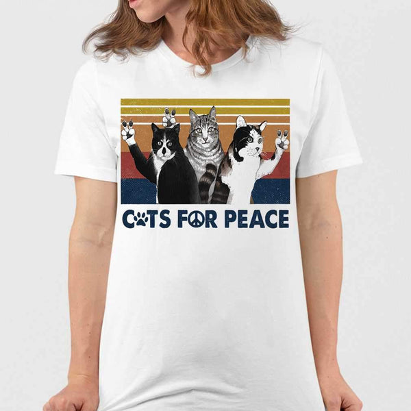 Cats For Peace Vintage Retro T-shirt S By AllezyShirt