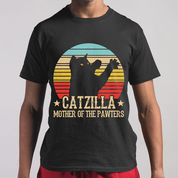 Catzilla Mother Of The Pawters Vintage T-shirt S By AllezyShirt
