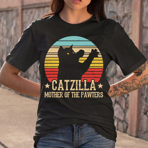 Catzilla Mother Of The Pawters Vintage T-shirt M By AllezyShirt