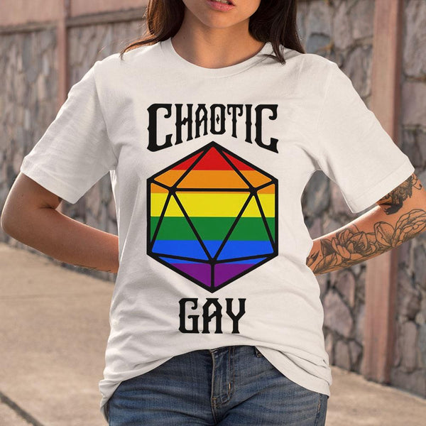 Chaotic Gay Rainbow Dice T-shirt M By AllezyShirt