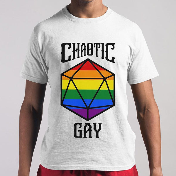 Chaotic Gay Rainbow Dice T-shirt S By AllezyShirt