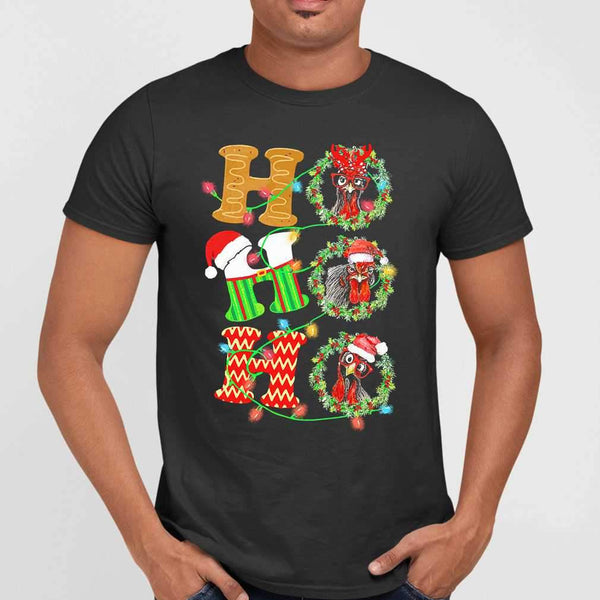 Chicken Hohoho Christmas T-shirt M By AllezyShirt