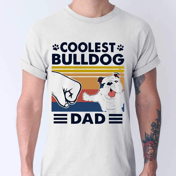 Coolest Bulldog Dad Vintage T-shirt M By AllezyShirt