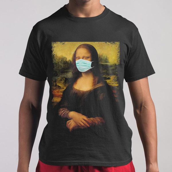 Coronavirus Face Mask Mona Lisa T-shirt S By AllezyShirt