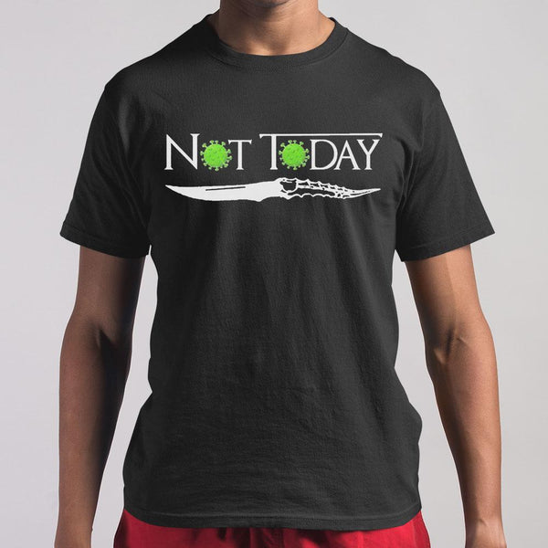 Coronavirus Not Today Knife T-shirt S By AllezyShirt