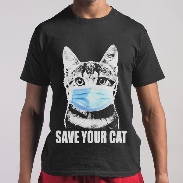 Coronavirus Save Your Cat Shirt M By AllezyShirt