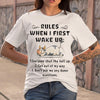 Cow Rules When I First Wake Up Shirt M By AllezyShirt