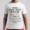 Cow Rules When I First Wake Up Shirt S By AllezyShirt