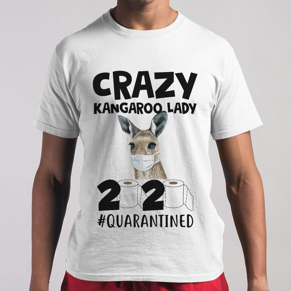 Crazy Kangaroo Lady 2020 Quarantined Toilet Paper Covid-19 T-shirt M By AllezyShirt
