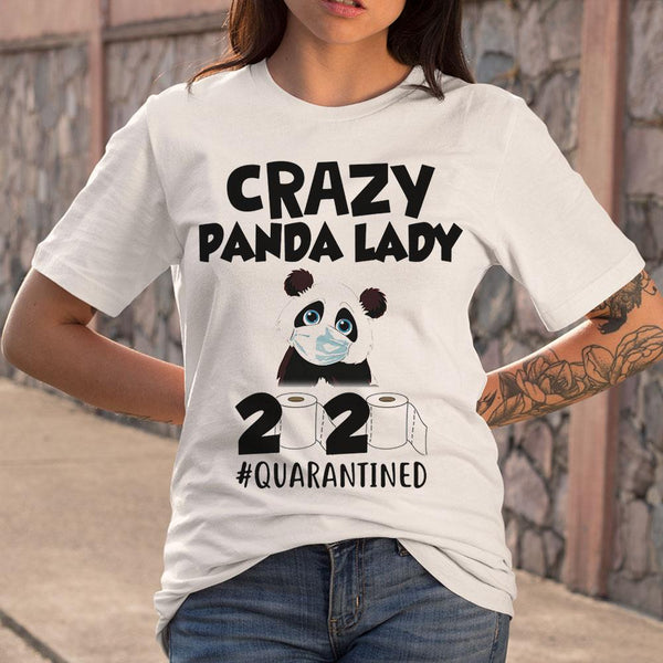 Crazy Panda Lady 2020 Quarantined Toilet Paper Mask Covid-19 T-shirt S By AllezyShirt