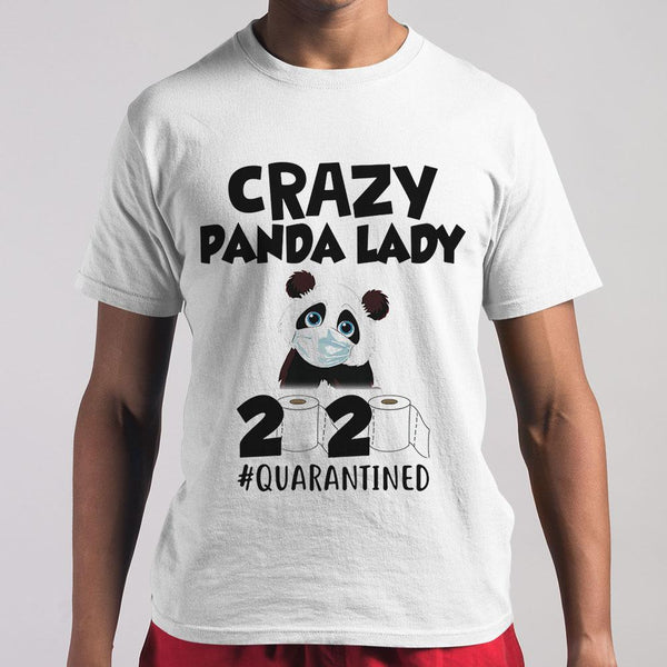 Crazy Panda Lady 2020 Quarantined Toilet Paper Mask Covid-19 T-shirt M By AllezyShirt