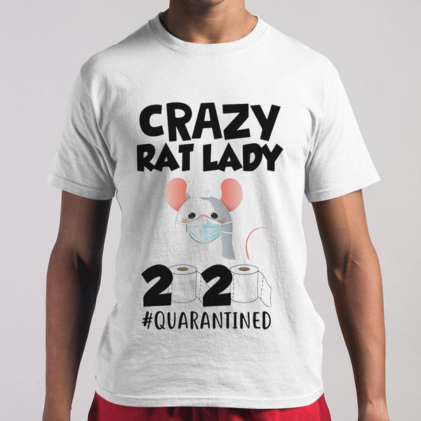 Crazy Rat Lady 2020 Isolated Toilet Paper Mask T-shirt M By AllezyShirt