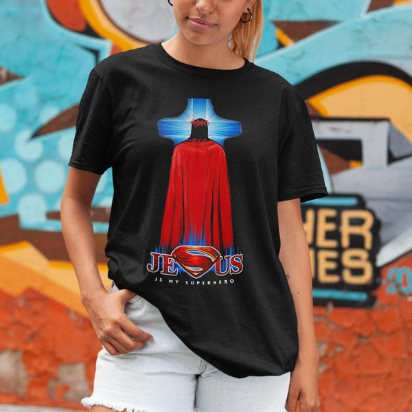 Cross Jesus Is My Superhero Shirt M By AllezyShirt